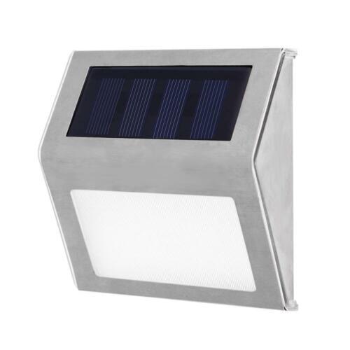 Edelstahl 3LED Solar Treppe leuchtet Innenhof Pathway Lampen