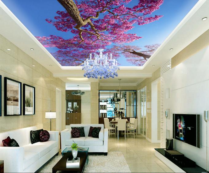 3D Lila Bäume 785 Fototapeten Wandbild Fototapete BildTapete Familie DE Kyra