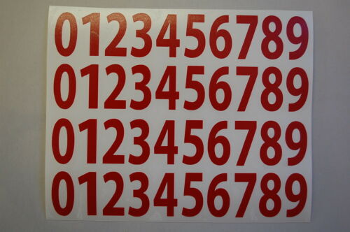 """18 Inch V446 0-9 Numbers Vinyl Sticker Decals SET OF 40 Pick Color/&Size 1//2/"""""""