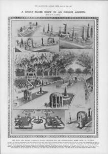 1908-Antique-Print-LONDON-Olympia-Horse-Show-Floral-Settings-Robinson-33