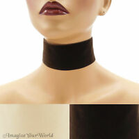 2 Velvet Choker Extra Wide 2 Inches (50 Mm) Custom Ribbon Necklace Brown +