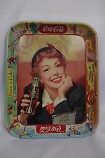 Vintage RARE exclusive Coca-Cola Coke Metal Serving Tray Thirst Knows no Season