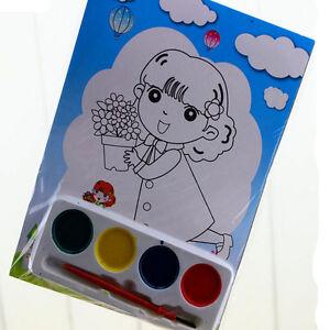 2x-bricolage-peinture-aquarelle-Set-4-couleurs-dessin-Kids-jouet-educatif