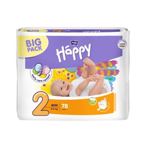 2  Mini  3-6 kg 78 oder 312 Stück Happy Bella Baby Mini Windeln Gr