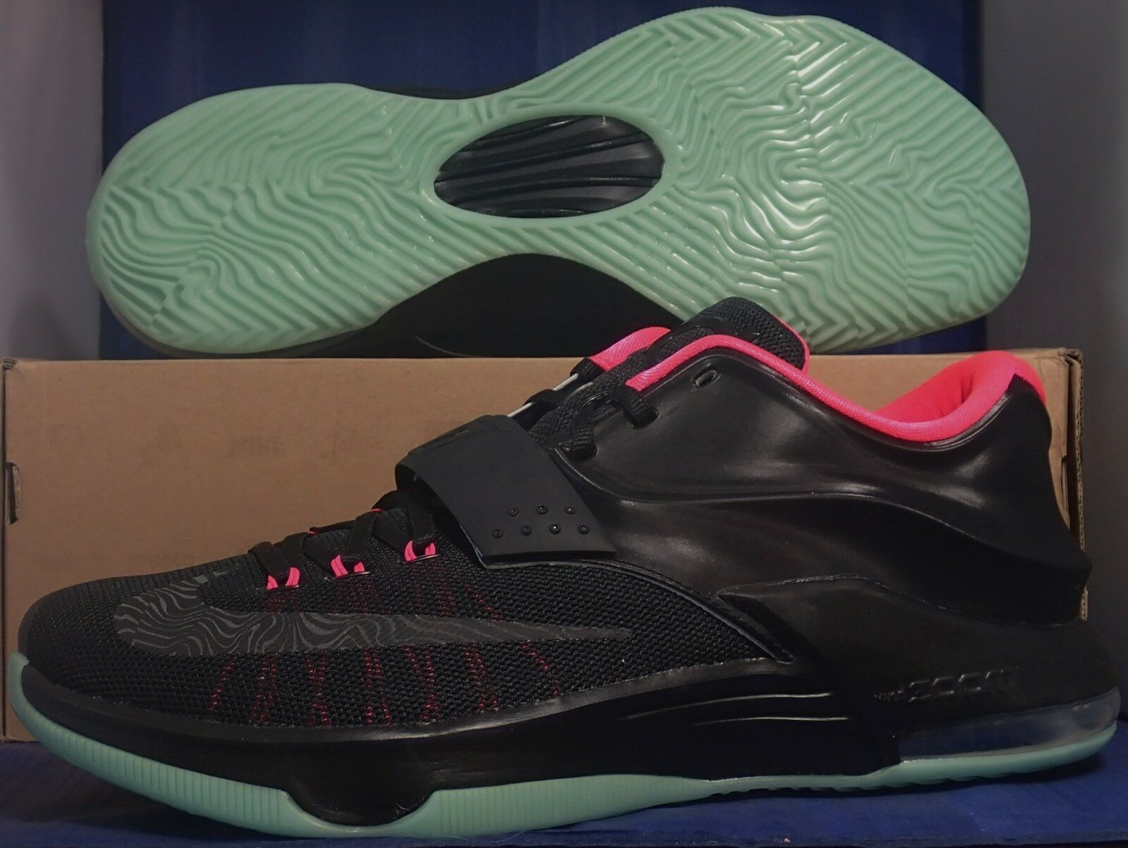 Nike KD VII 7 vert iD Noir rose Mint vert 7 Yeezy Kevin Durant SZ 12 f9e188