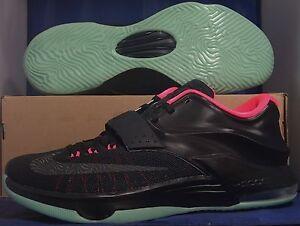Nike KD VII 7 iD Black Pink Mint Green Yeezy Kevin Durant SZ 12 ( 704380-994 )