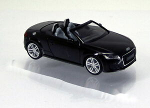 Herpa-Audi-TT-Roadster-8S-brillantschwarz-Scale-1-87-NEU-OVP-028400