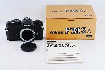 MINT   Nikon FM3A 35mm SLR Film  Camera BLACK  Body Only   with BOX   From JAPAN