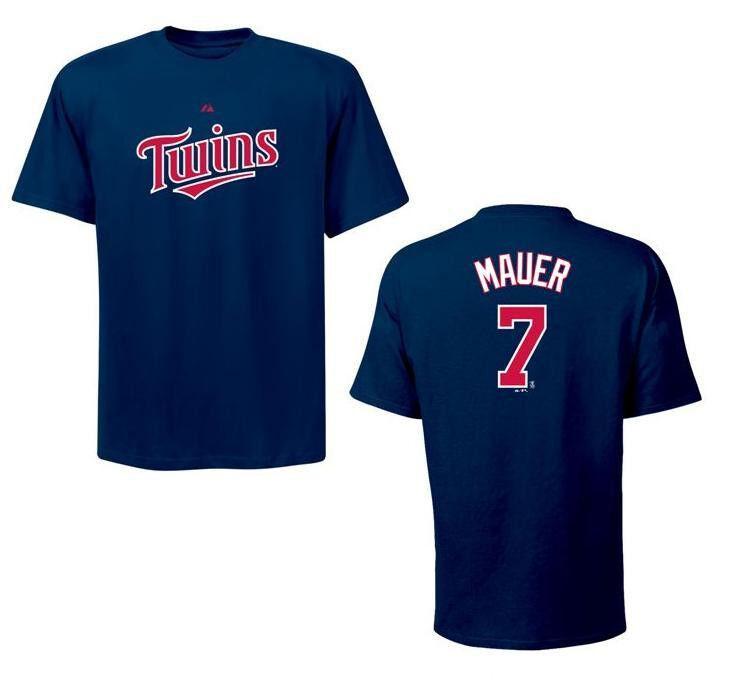 MLB Baseball    T-Shirt MINNESOTA TWINS Joe Mauer 7 navy fa4777