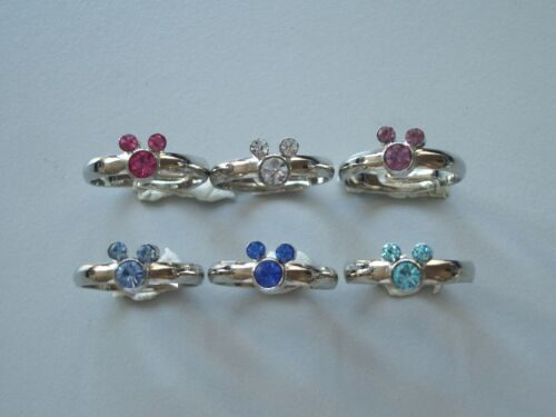Mickey Mouse Swar Crystal Ring Size 5.25 Multi Color