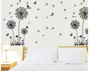 Wandtattoo Schlafzimmer Lowenzahn Pusteblume Silhouette Schmetterlinge W128 Ebay