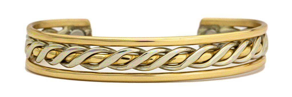 Passages - Sergio Lub - Solid Copper Cuff Bracelet Magnetic Medium 6-7in