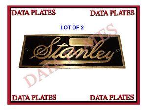 2x-STANLEY-STEAMER-DATA-PLATE-1897-1927-ACID-ETCHED-BRASS