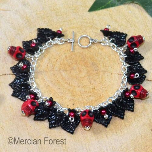 Sheep Leather /'/'Skull /& Bones/'/' Choker ~ Collar ~ Gothic Jewellery
