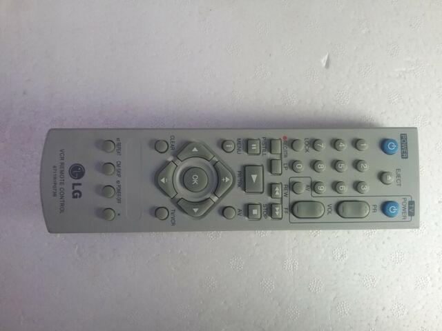 Genuine Original LG VCR Remote Control 6711R1P073B (Working Condition)