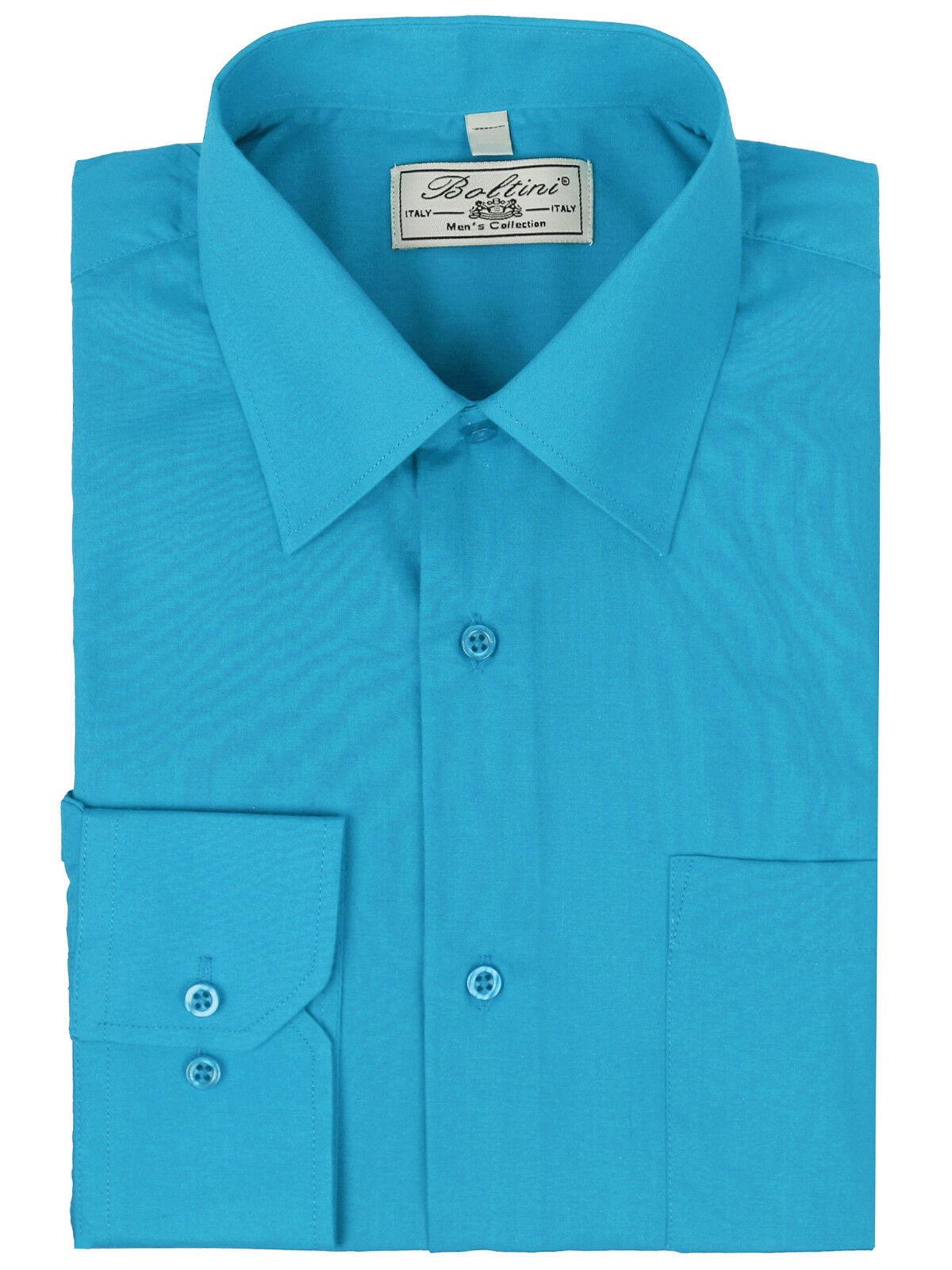 "Kirkland Signature custom fit L//S Formal Shirt Blue Diamond Weave taille 16/""x34//35"