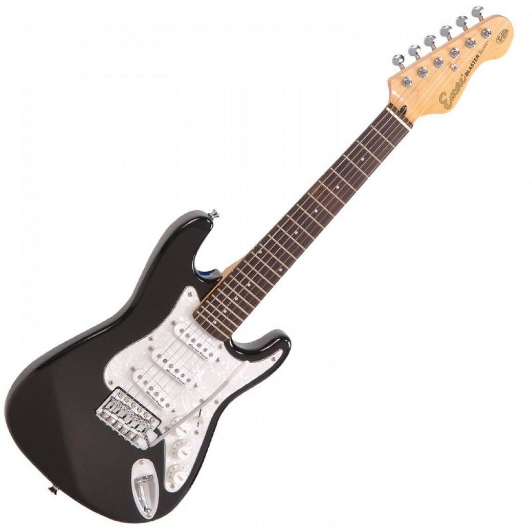 Encore e375bk - 3/4-Größe E-Gitarre - Hochglanz schwarz - Starter Gitarre