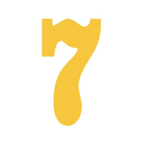 Yellow Jersey Number Vinyl Heat Transfer Iron-On Sports T-Shirts DIY Parts