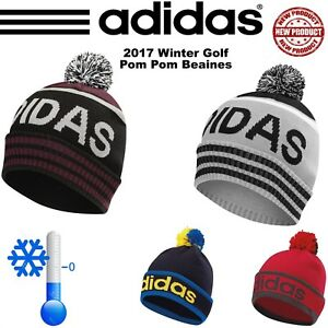 ADIDAS GOLF HAT ADIDAS GOLF POM POM BEANIE WINTER GOLF HAT  NEW 2017 ... 8acfab63974