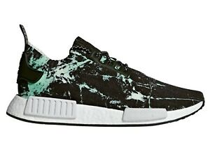 4b20192e3 Adidas NMD R1 PK Marble Mens BB7996 Aero Green Black Primeknit Shoes ...