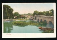 Berkshire Berks SONNING River Thames Bridge U/b PPC