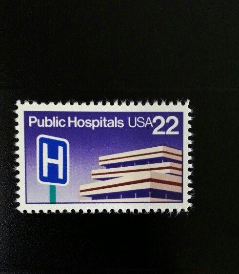 1986 22c Public Hospitals Scott 2210 Mint F/VF NH