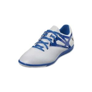 0352dc726 MENS Adidas Messi 15.3 IN Indoor Soccer Cleats B24591 White Prime ...
