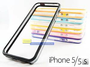 BUMPER-TRANSPARENTE-para-APPLE-IPHONE-5-Y-5S-VARIOS-COLORES-Funda-carcasa