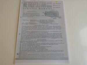 """""""classique Austin Metropolitan"""" Pye Radio Pe-86cr & Pe-86cr/lw Service Manual.-afficher Le Titre D'origine Amener Plus De Commodité Aux Gens Dans Leur Vie Quotidienne"""