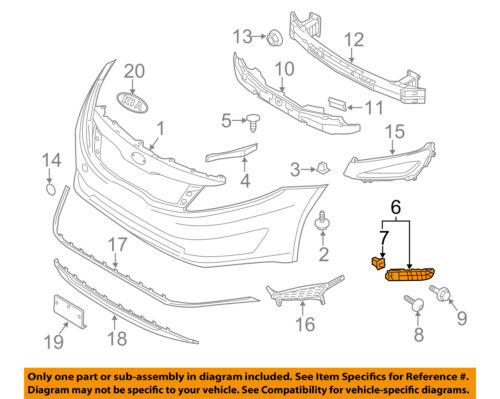 KIA OEM 11-13 Optima Front Bumper Grille Grill-Side Retainer Left 865132T000