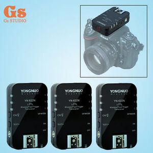 3pcs-Yongnuo-YN-622N-Wireless-TTL-Flash-Trigger-1-8000s-Flash-Ratio-for-Nikon