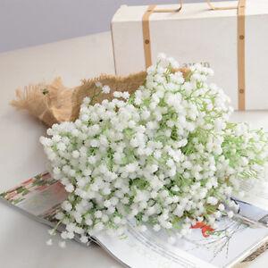 Artificial Silk Gypsophila Baby Breath Fake Flower Bouquet Wedding Home Decor