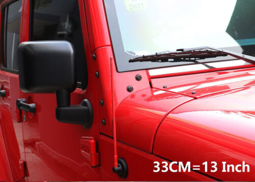 """13/"""" 8MM Red Metal Antenna FM AM Radio Signal For Jeep Wrangler 2007-2017"""
