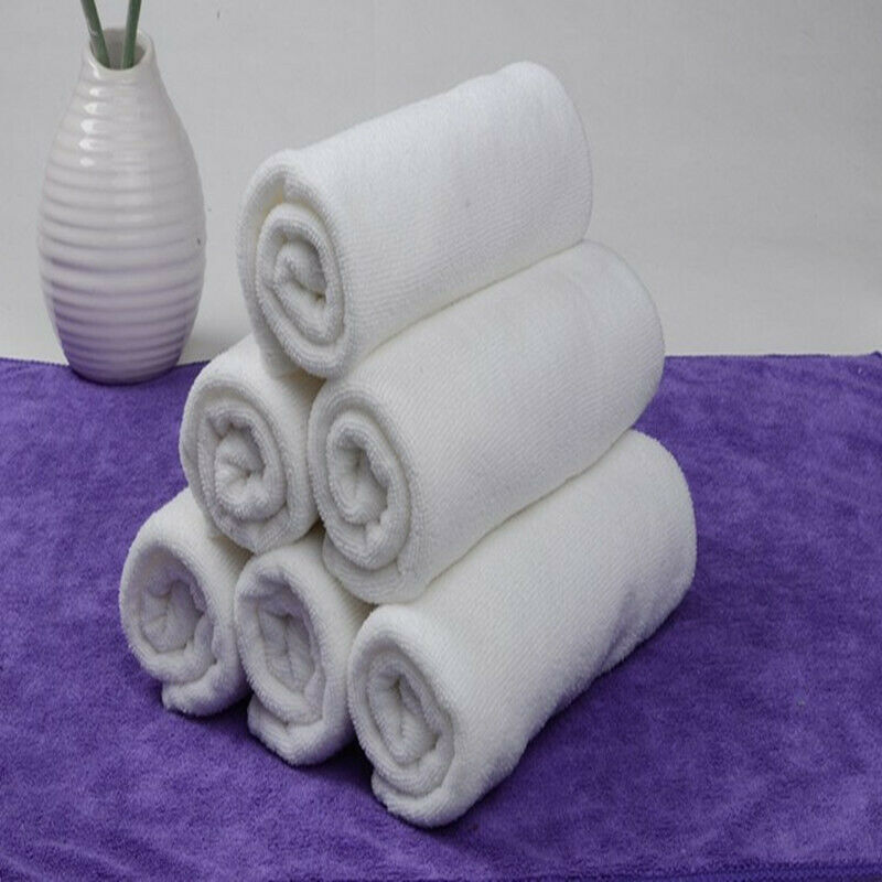 6X Luxury Cotton Super Soft Towels Bath White Towel Sheet Hotel Quality for Home