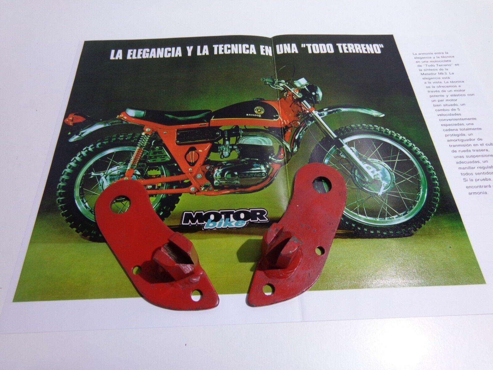Bultaco Matador mk 3 new original footrests ( box 77)