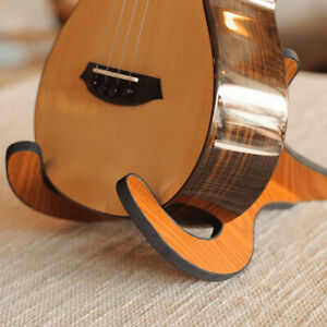 Portable-Ukulele-Wooden-Foldable-Holder-Collapsible-Guitar-Display-Stand-Rack-YK