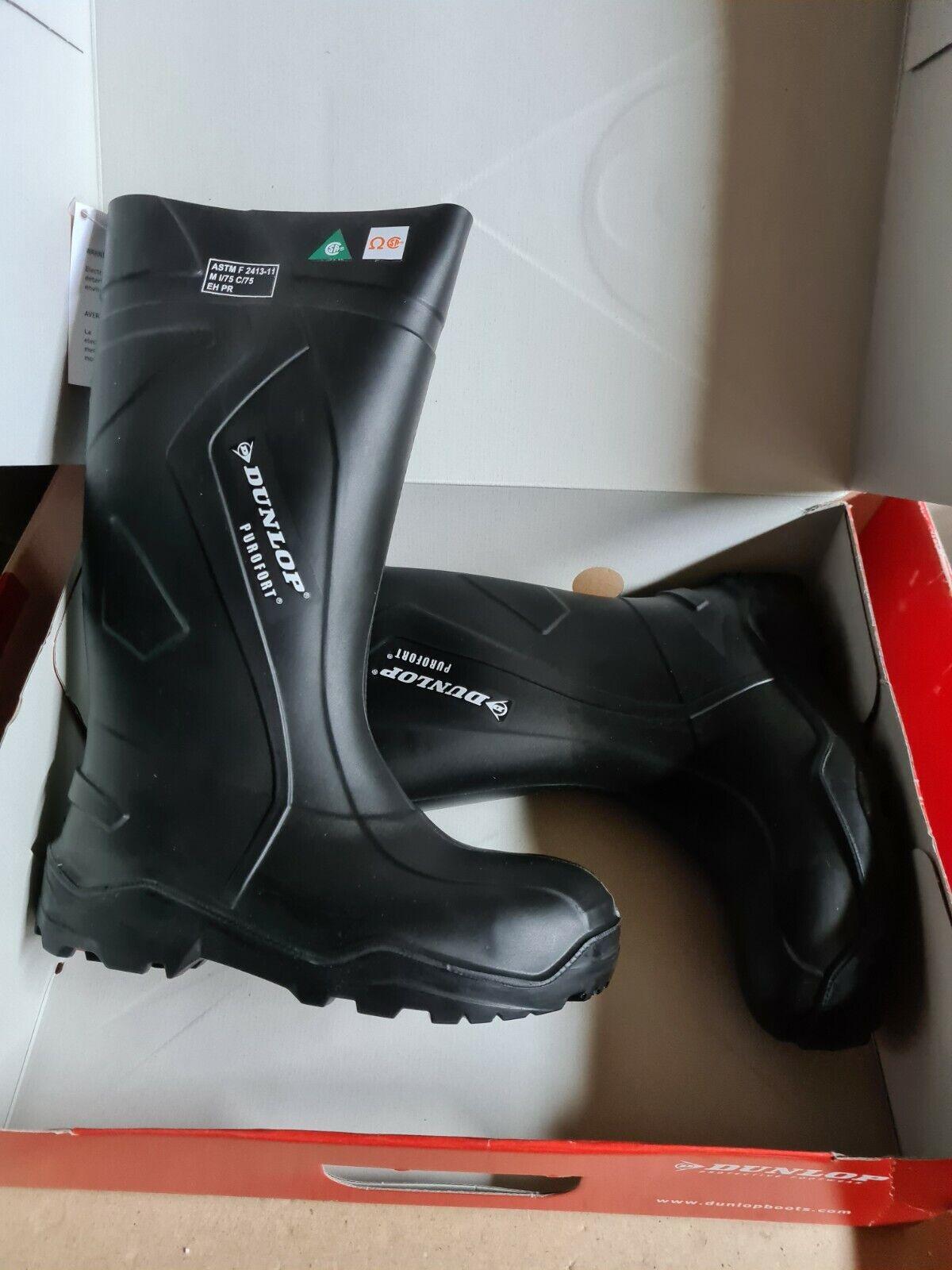 Waterproof boots boots Dunlop Purofort + full safety