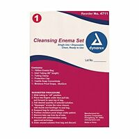 5 Pack Dynarex Cleansing Enema Set Disposable Colon Cleansing Kit 4711 on sale