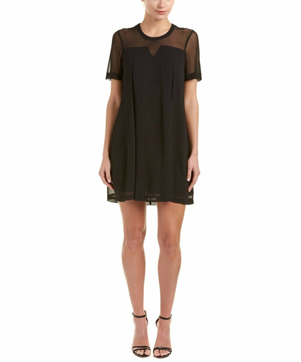 BCBGeneration Mesh Trim Shift Dress