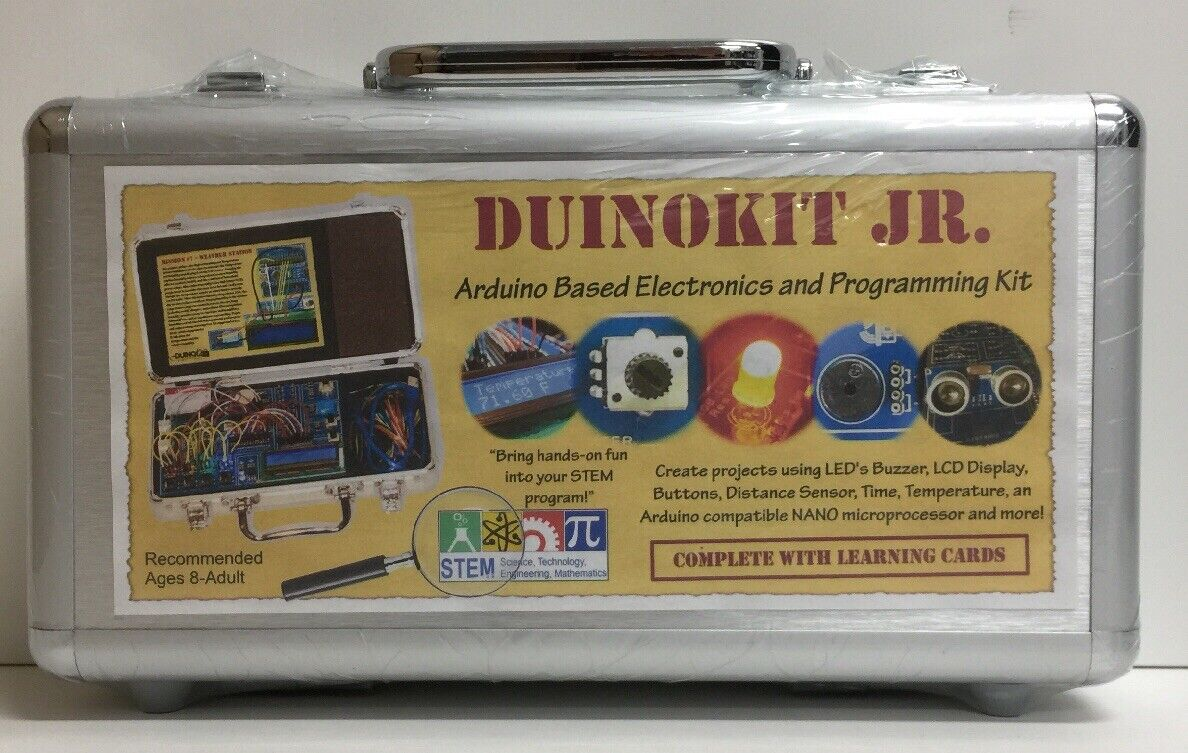 (New) Duino Jr Arduino Based Electronics and Programming Programming Programming Kit w Metal Case 0ab007