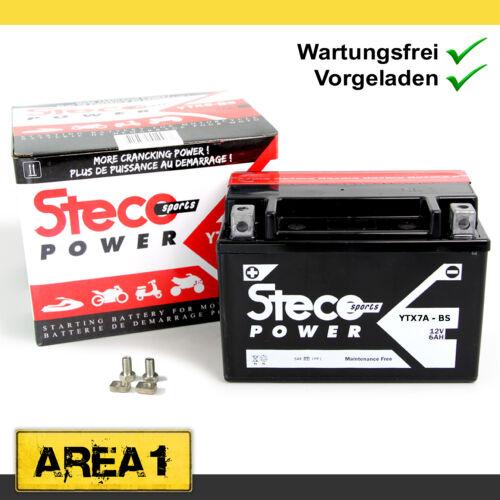 Wartungsfreie Batterie YTX7A-BS 6Ah Flex Tech Hurrican X2 Steco Power