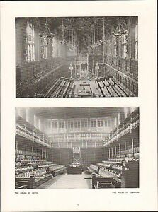 London-The-House-of-Lords-of-Commons-Westminster-Hall-ENGLAND-UK-PLANCHE-1910