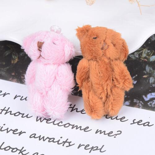 Mini 4.5 cm fluffy bear plush stuffed toy doll for kids candy box gifts toys JB