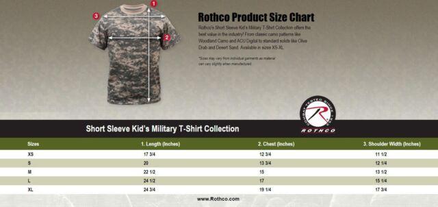 Rothco kids vintage camo t shirt 7603 acu digital camo l ebay