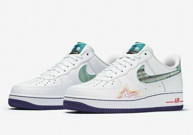 Nike Air Force 1 Low Pregame Mens Size 9 White Green Purple Cw6015 100 RARE