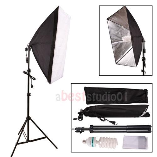 Photography Studio 135W Soft Box Continuous Lighting Softbox Light Stand Kit USA