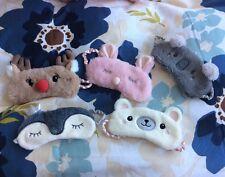 Satin Sleeping Mask Plush Animal Cute Eye Mask - penguin, rabbit, bear, koala