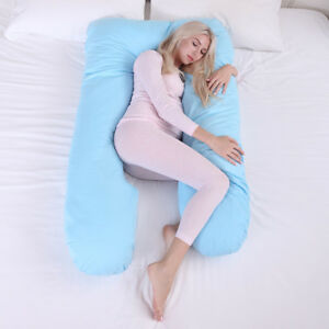 Pregnancy-Pillow-Maternity-Belly-Contoured-Body-U-Shape-Extra-Pregnant-Blue