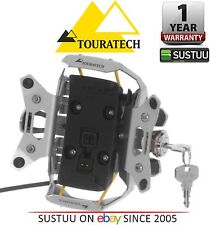Touratech High Quality Lockable Mount Silver for Garmin Zumo 340 345 350 390 395