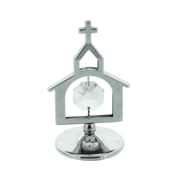 Crystocraft Swarovski Elements Crystal Church Ornament Gift SP719